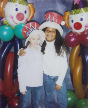 Emma and Lauren at the Circus